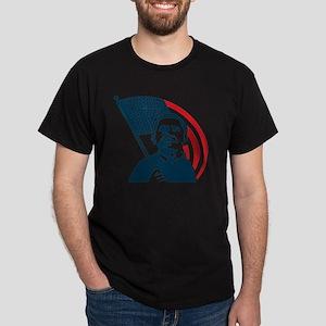 Obama Forward Flag Dark T-Shirt