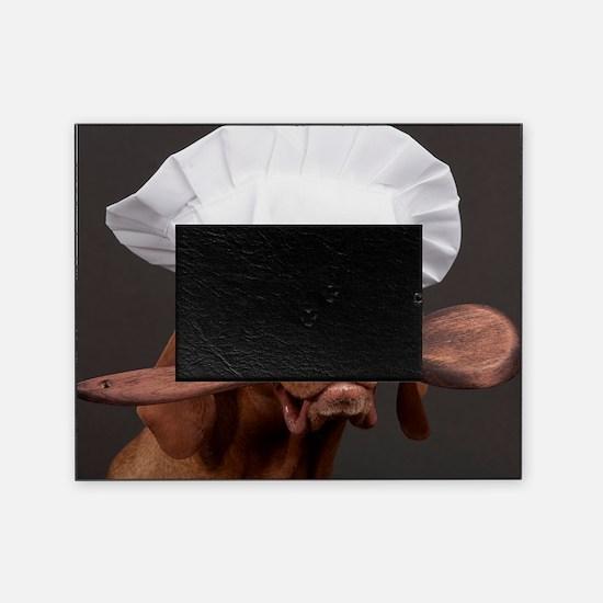 vizsla chef Picture Frame