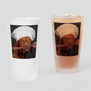 vizsla chef Drinking Glass