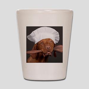 vizsla chef Shot Glass