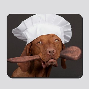 vizsla chef Mousepad