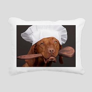 vizsla chef Rectangular Canvas Pillow