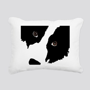 Border Collie Watching E Rectangular Canvas Pillow