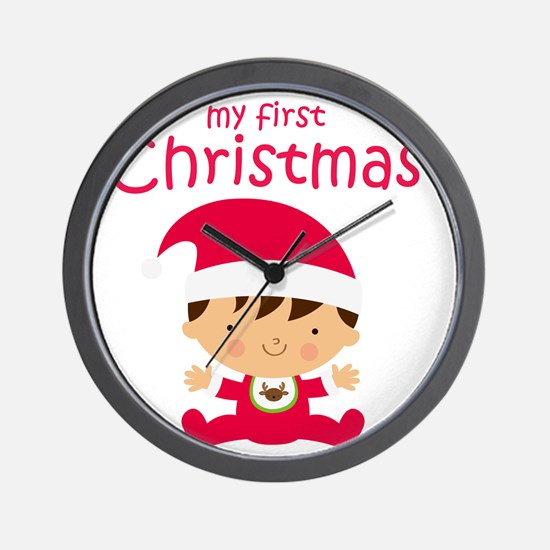 Boys My First Christmas Wall Clock