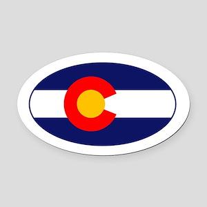 CO - Colorado Oval Car Magnet