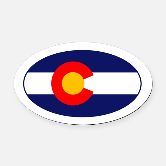 CO - Colorado Oval Car Magnet