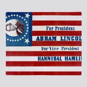 ART Lincoln 1860 Throw Blanket