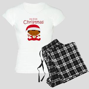 Black Boy 1st Christmas Women's Light Pajamas