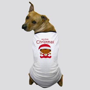 Black Boy 1st Christmas Dog T-Shirt