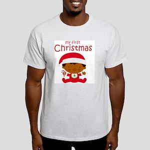 Black Boy 1st Christmas Light T-Shirt