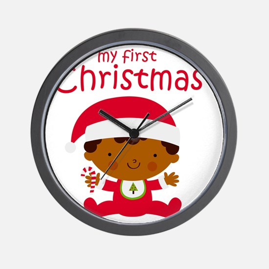 Black Boy 1st Christmas Wall Clock