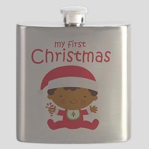 Black Boy 1st Christmas Flask