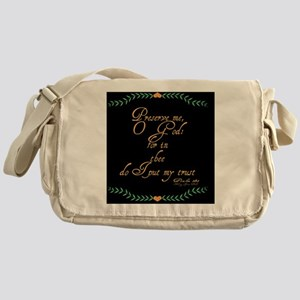 Psalms 16 1 Green Leaves Messenger Bag