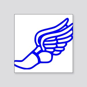 Blue Running Shoe With Wings Sticker
