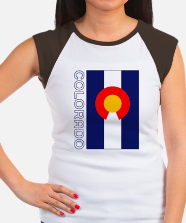 CO - Colorado Women's Cap Sleeve T-Shirt