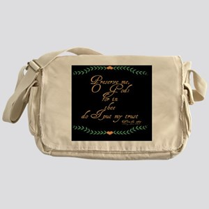 Psalms 16 1 Green Vines Messenger Bag