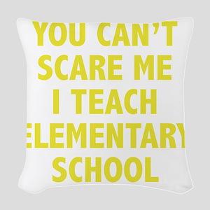 scareSchool1D Woven Throw Pillow