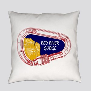 Red River Gorge Climbing Carabiner Everyday Pillow