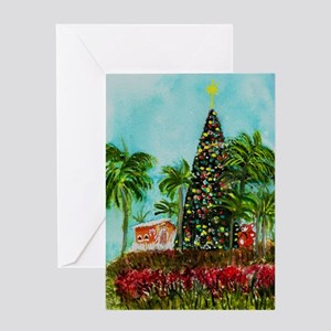 Watercolor painting greeting cards cafepress 100 foot christmas tree greeting card m4hsunfo
