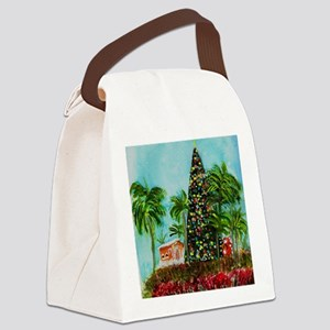 100 Foot Christmas Tree Canvas Lunch Bag