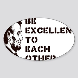 excellentrectangle Sticker (Oval)