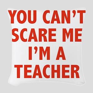 scareTeacher1D Woven Throw Pillow