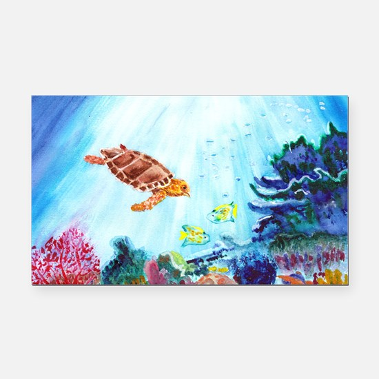 Coral Reef Rectangle Car Magnet