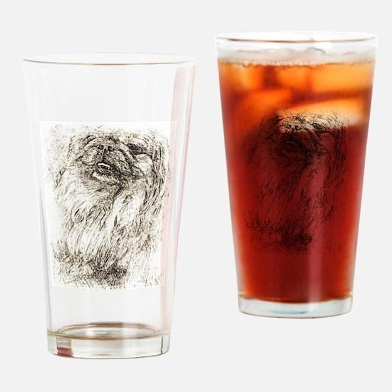Pekingese Portrait Drinking Glass