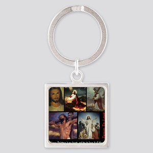 Jesus Square Keychain