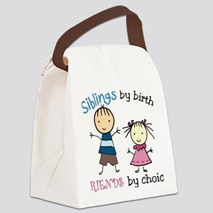 Siblings By Birth Canvas Lunch Bag
