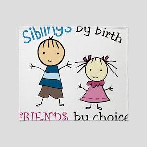 Siblings By Birth Throw Blanket