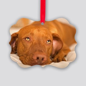 dreamy dog Picture Ornament