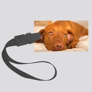 dreamy dog Large Luggage Tag