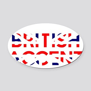 britishAccent1B Oval Car Magnet