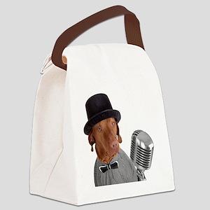 singing dog Canvas Lunch Bag