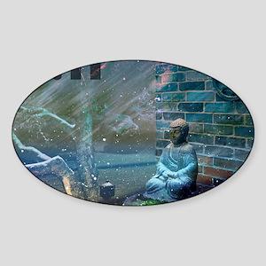 11:11 Buddha Sticker (Oval)