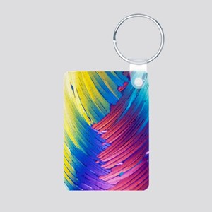 Cortisol crystals, light m Aluminum Photo Keychain