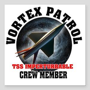 "TSS Imperturbable Crew M Square Car Magnet 3"" x 3"""