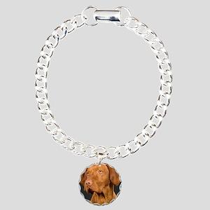 vizsla portrait Charm Bracelet, One Charm