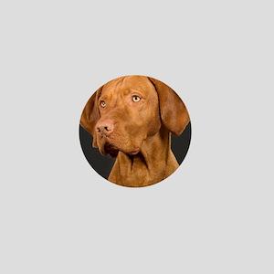 vizsla portrait Mini Button