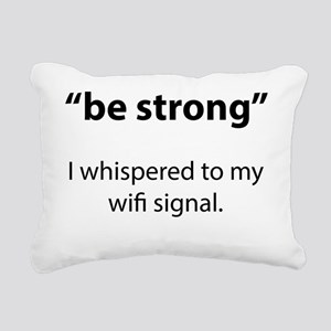 strongWifiSign1A Rectangular Canvas Pillow