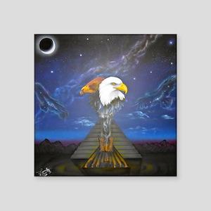 """The Condor and Eagle Reunit Square Sticker 3"""" x 3"""""""