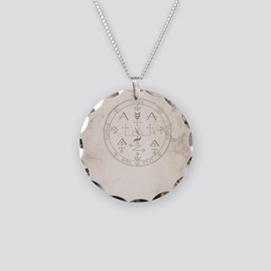 Uriel allover back Necklace Circle Charm