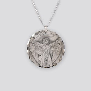 Uriel allover Necklace Circle Charm