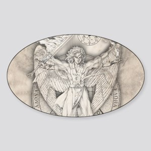 Uriel allover Sticker (Oval)