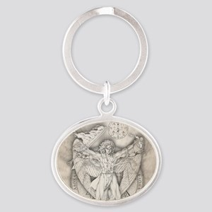 Uriel allover Oval Keychain
