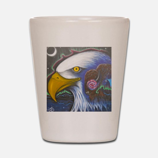 Watch Over Us Shot Glass