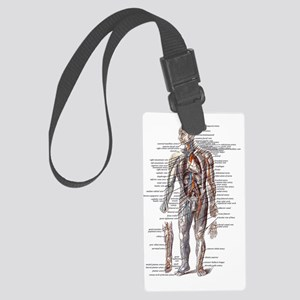 Anatomy of the Human Body Large Luggage Tag