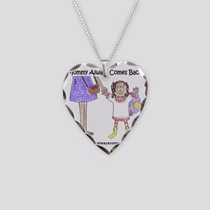 girl one Necklace Heart Charm