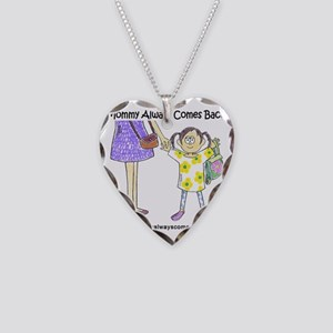 girl two Necklace Heart Charm